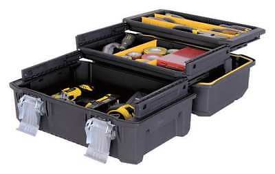 "Stanley 17-29/32"" Portable Tool Box, 2 Drawers, Black, FMST18001"