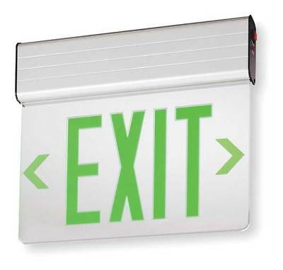 Acuity Lithonia Aluminum LED Exit Sign with Battery Backup, EDG 1 G EL M6