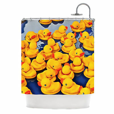Kess InHouse 'DUCKIES' Shower Curtain, High Quality Fabric, Retails $99
