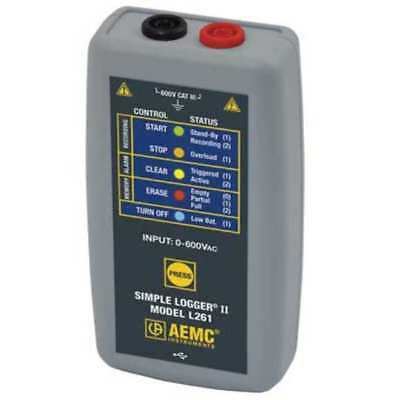 AEMC INSTRUMENTS L261 Voltage Data Logger, 0 to 600 V AC/DC