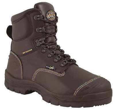 OLIVER 55246/080 Work Boots, Steel, Mens 8, Black, PR
