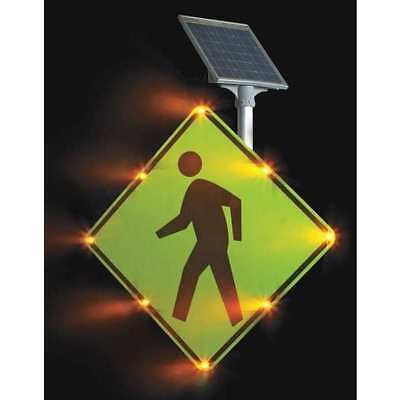 TAPCO 2180-00214 LED Traffic Sign, Pedestrian Crossing