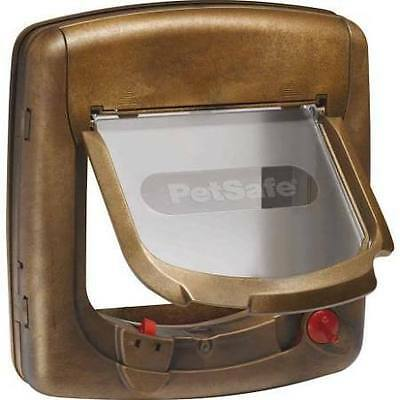Porte Petsafe Staywell Deluxe magnétique 4 positions brun