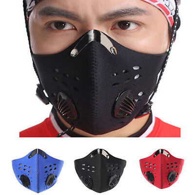 Anti Dust Pollution Filter Running Motorcycle Bicycle Cycling Ski Half Face Mask