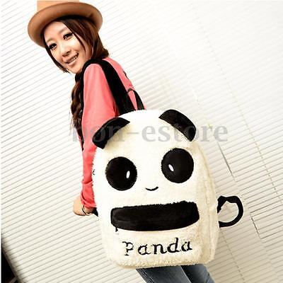 Women Plush Cute Panda Shoulder Backpack Girl School Bookbag Rucksack Travel Bag