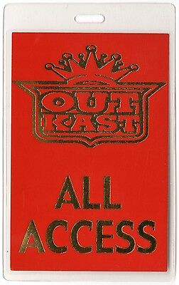 Outkast authentic 2003 concert tour Laminated Backstage Pass