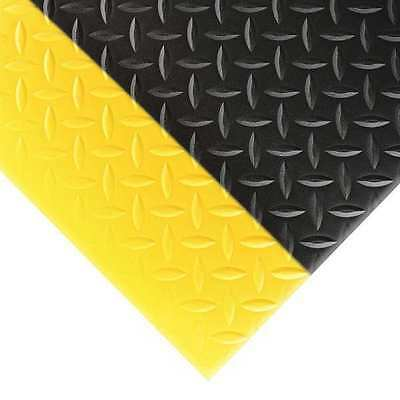 NOTRAX 419S0023BY Antifatigue Mat, 2 ft. x 3 ft., Blk w/Ylw