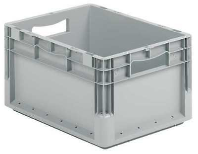 Solid Wall Stacking Container, Gray ,Ssi Schaefer, ELB4220.GY1
