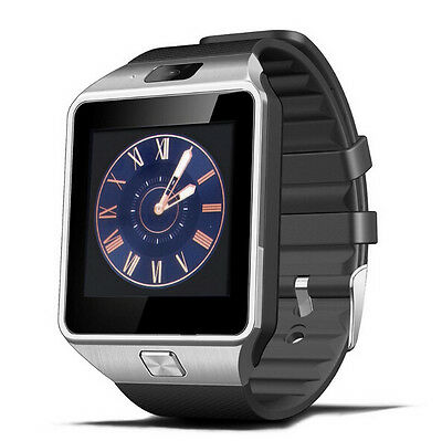 Black Strap Bluetooth DZ09 Smart Watch GSM with SIM Card Slot For Android Phone