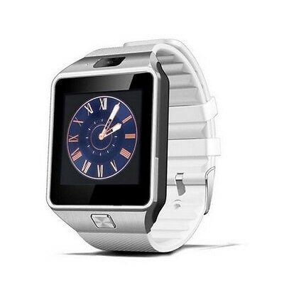 White Bluetooth DZ09 Smart Watch with GSM SIM Card Slot For Android Mobile Phone
