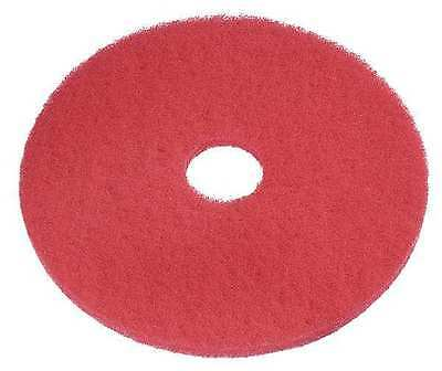 TOUGH GUY 6YAA3 Recycled Buffing Pad, 20 In, Red, PK 5
