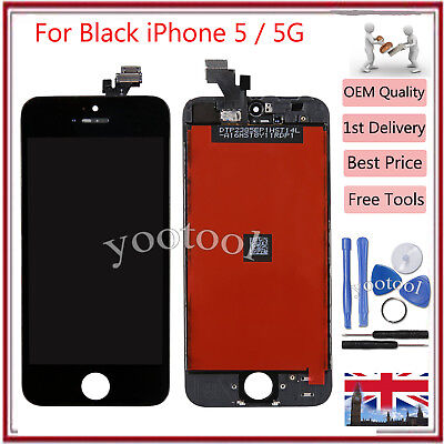 Replacement For iPhone 5 5G LCD Digitizer Touch Screen Display Assembly Black UK