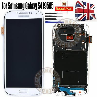 For White LCD Digitizer Touch Screen Display Samsung Galaxy i9505 S4 i9508 UK