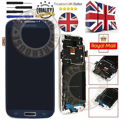 Black LCD Digitizer Touch Screen Display For Samsung Galaxy i9505 I9508 S4 UK