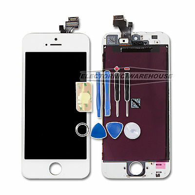 For Apple iphone 5 5G lcd display digitizer touch screen glass replacement WHITE