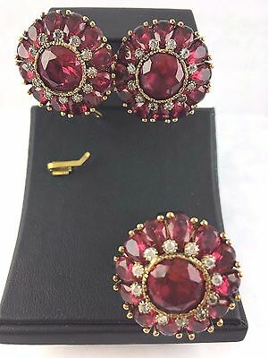 Turkish Made Jewelry 925 Sterling Silver / Pinkish Ruby Set Ring Size 8.5