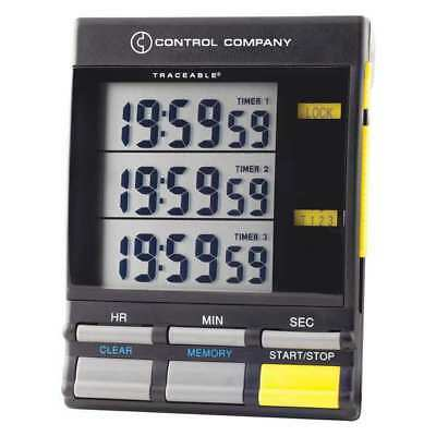 TRACEABLE 5025 Triple Display Timer, 1/2 In. LCD