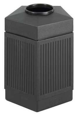 Safco 30 gal. Pentagon Black Trash Can w/ Disposal Opening, 9485BL