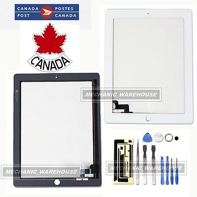 For iPad 2 White Replacement  Front Glass Digitizer Touch Screen Lens + Tools CA