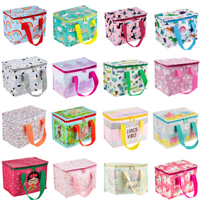 NEW Childrens Kids Lunch Bags Insulated Cool Bag Picnic Bag School Lunchbox