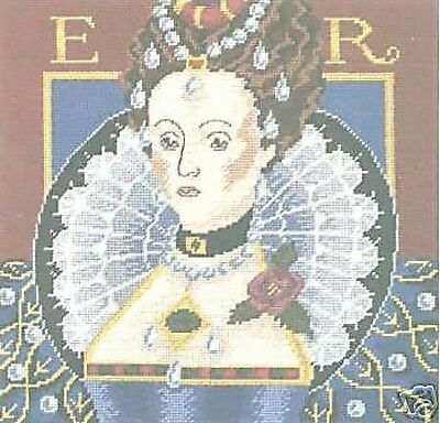 Queen Elizabeth I Tapestry Needlepoint Canvas DMC