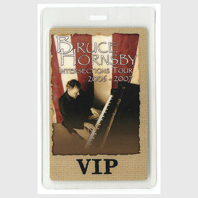 Bruce Hornsby authentic 2006-2007 concert tour Laminated Backstage Pass