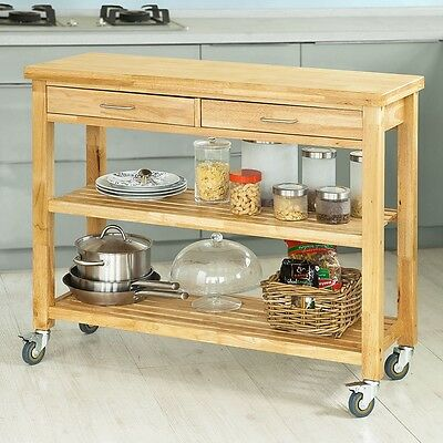 SoBuy® Kitchen Storage Serving Trolley Cart with Drawers & Shelves,FKW24-L-N,UK