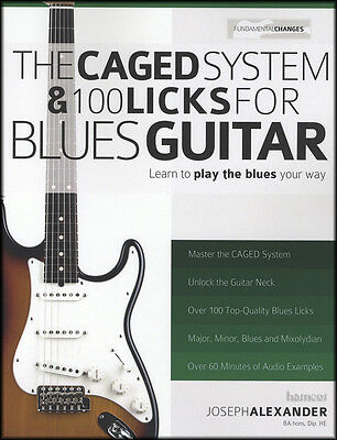 The CAGED System & 100 Licks for Blues Guitar TAB Book & DLC Audio