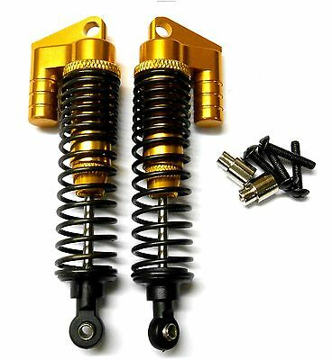 S106004Y 1/10 Scale Buggy RC Alloy Oil Filled Shock Absorber Damper Yellow 90mm