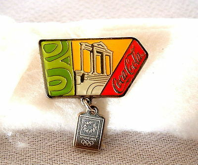 Olympic pin  Coca Cola Athens 2004 Parthenon