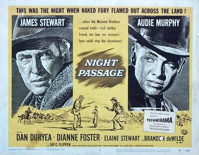 James Jimmy Stewart Audie Murphy Orig Night Passage Western Universal Pictures