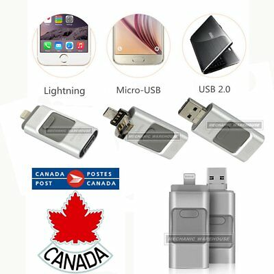64GB i-Flash Drive USB OTG Memory Storage Stick For iPhone PC Android Silver CA