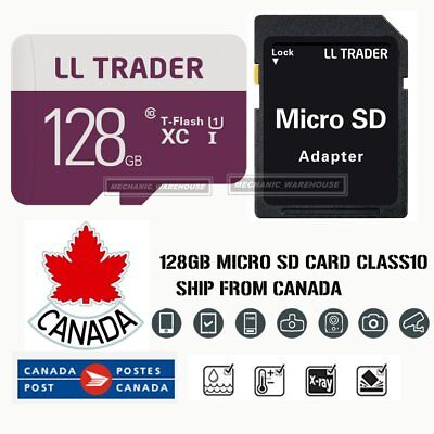 128GB Ultra Micro SD Card TF Memory SDHC UHS-1 for Mobile Lap Camera w/ADAPTER
