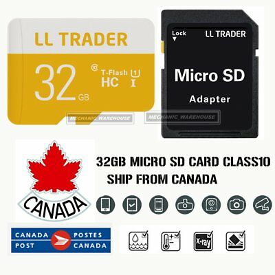 32GB Ultra Micro SD Card TF Memory SDHC UHS-1 for Mobile Lap Camera w/ADAPTER CA
