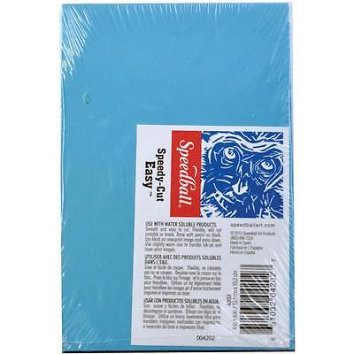 Speedball 4x6 Speedy-Cut Easy Stamp Carving Block Blue