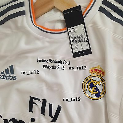 87090ff1e8e Real Madrid Player Issue Raul Ronaldo Jersey 13 14 Formotion Match un Worn  Bale