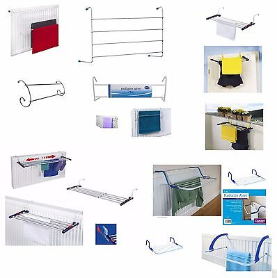 Metal Radiator Towel / Clothes Airer Dryer Drying Rack Balconies Rail Bar Holder