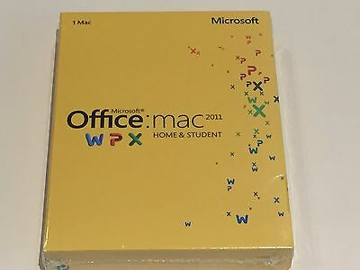 Microsoft Office for Mac Home and Student 2011 - NEW