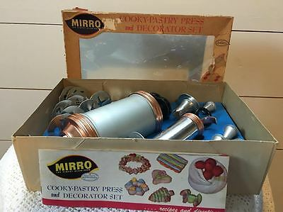 Vintage Mirro Cooky Pastry Press and Decorator Set 350-M