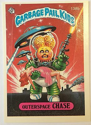 Outerspace Chase 138b Garbage Pail Kids US 4th Series (1986)Sticker/Vintage/Mint