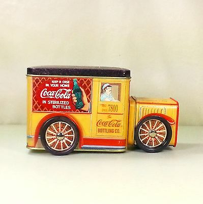 Coca Cola Bottling Co. Vintage Metal Tin Delivery Truck With Hidden Compartment