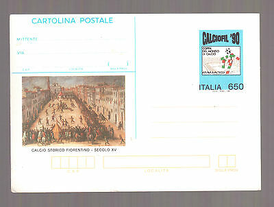 Italy, Calciofil 90 Stamp Exhibition, Unused Stationary Postcard Mint !!