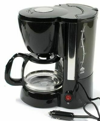 Electric Coffee Maker 12V 170W Coffe Machine All Ride For 6 Cups Black Car Truck