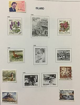 Island Iceland 1988/89 Lot Of 9 Used For Description Look At The Picture Rare