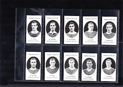 cigarette cards football wollwich arsenal ( reproductions ) full set