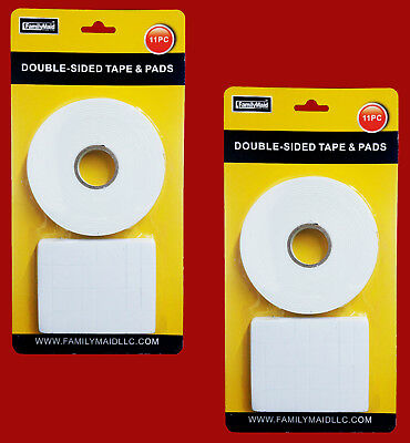 320 Pre-Cut Double Sided Pad + 5M Mounting Tape Sticky Foam Self Adhesive Pad