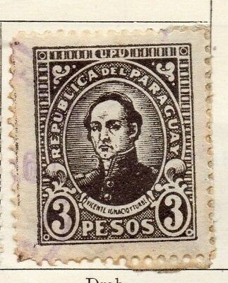 Paraguay 1927-30 Early Issue Fine Used 3P. 125253
