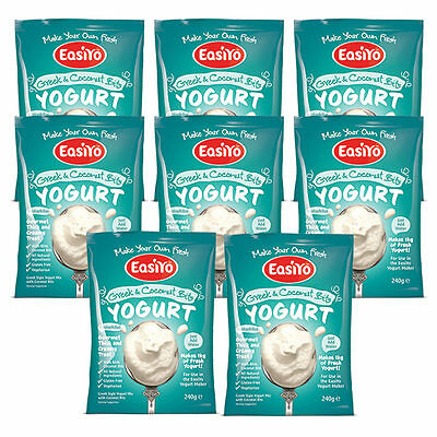 Easiyo Greek N Coconut - Eight Sachet Pack - Best Before 27th Jan 2017