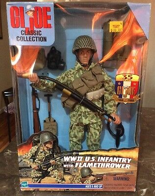 GI JOE Classic – WWII U.S. INFANTRY with FLAMETHROWER Action Figure/Gun – #T021