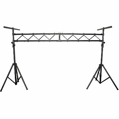 Aluminum Mobile DJ Stage Portable Lighting Truss Stand System W 2 T-bars -BLS01